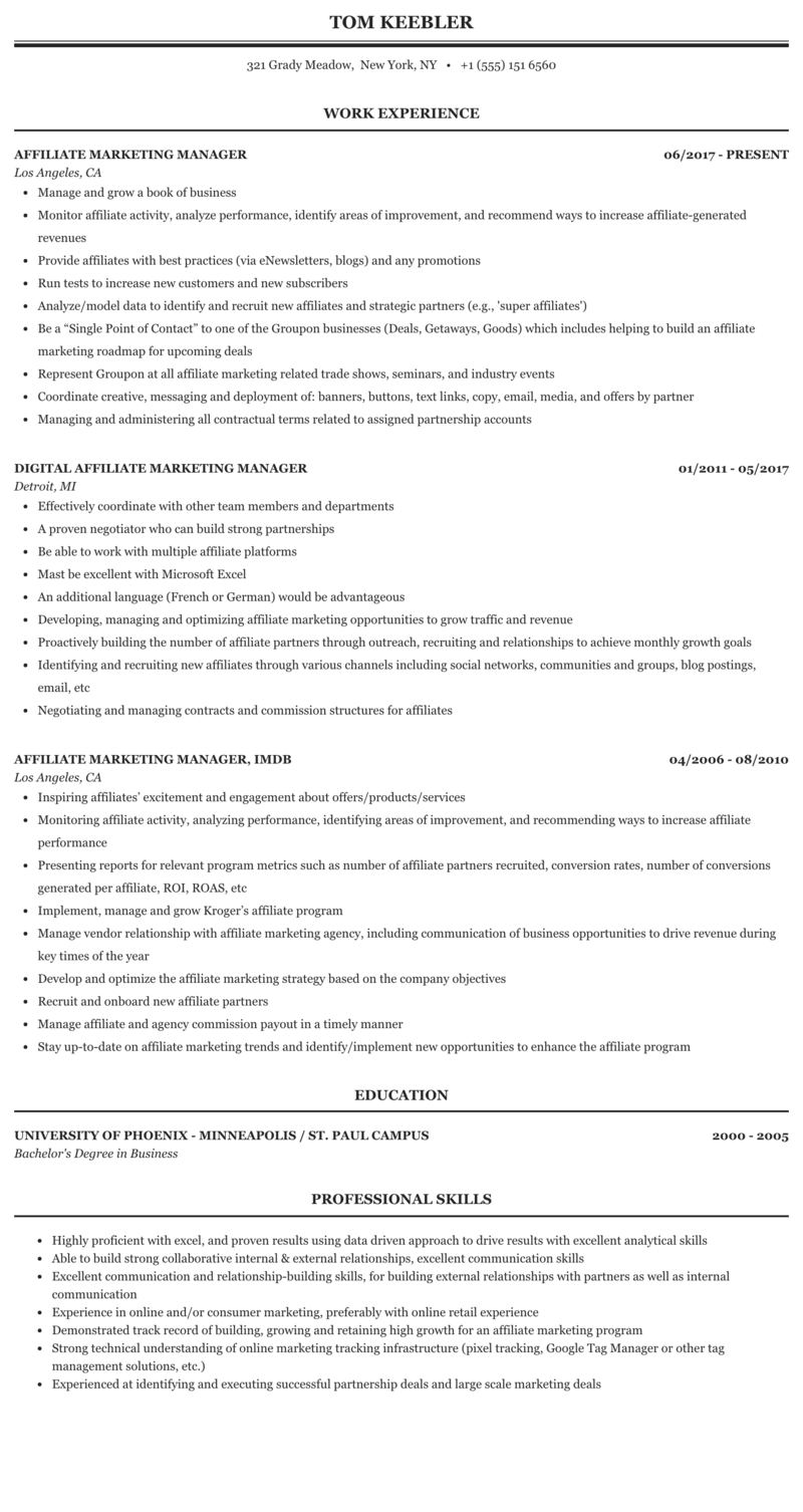 Resume affiliate lab resume technician