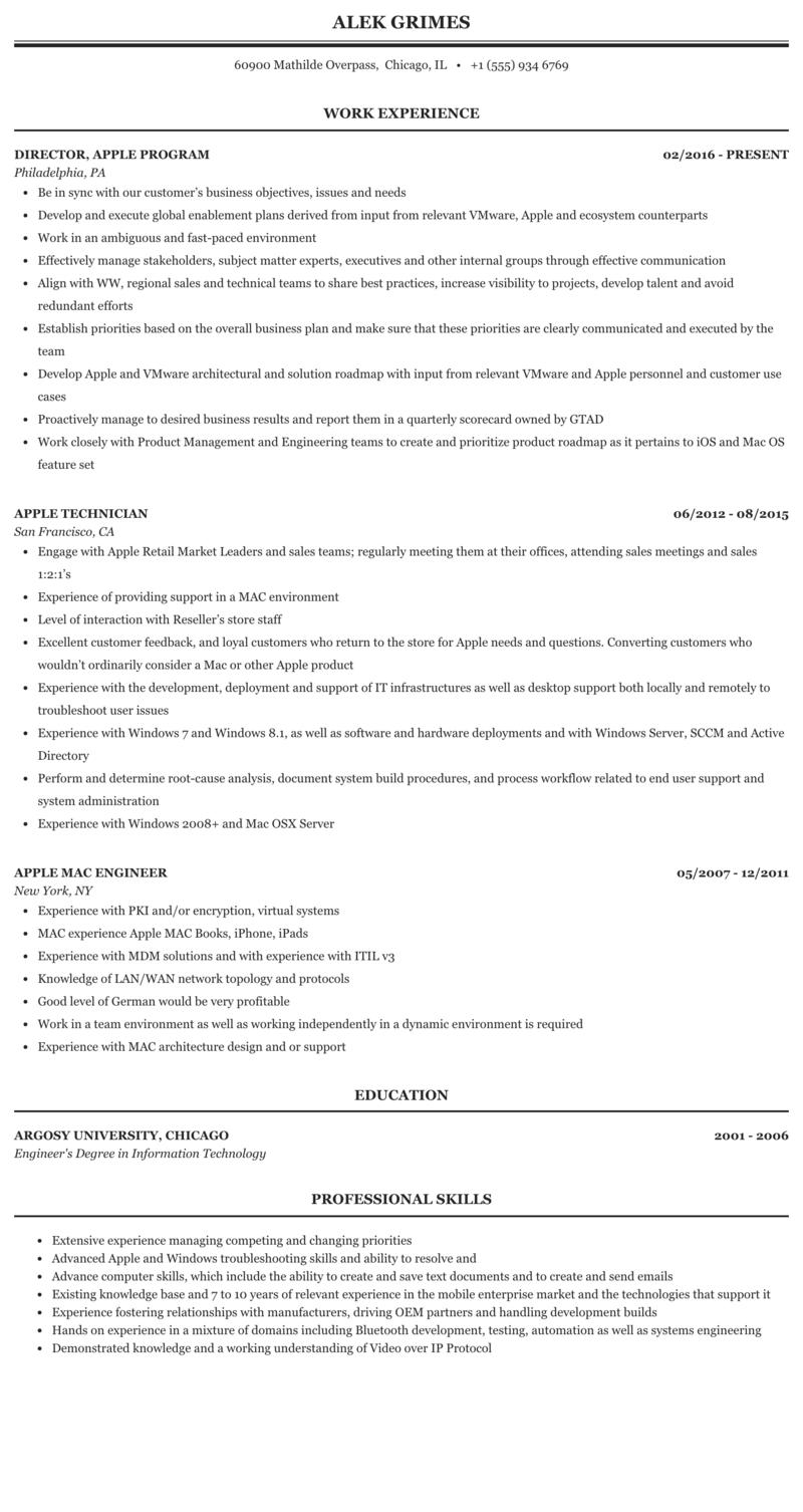 Apple objective resume retail advisor cover letter
