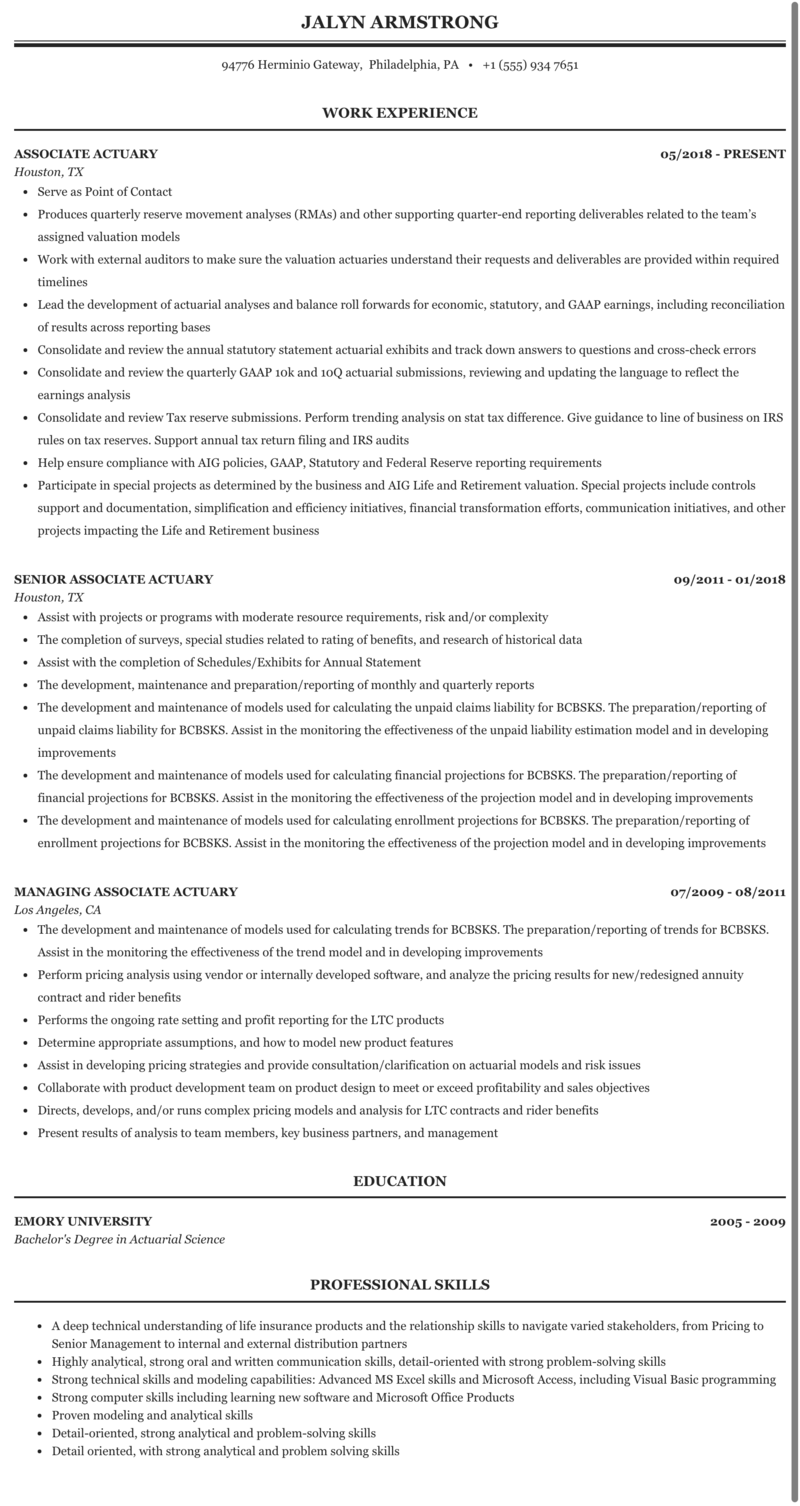 Pension actuary resume how to make cover sheet for resume