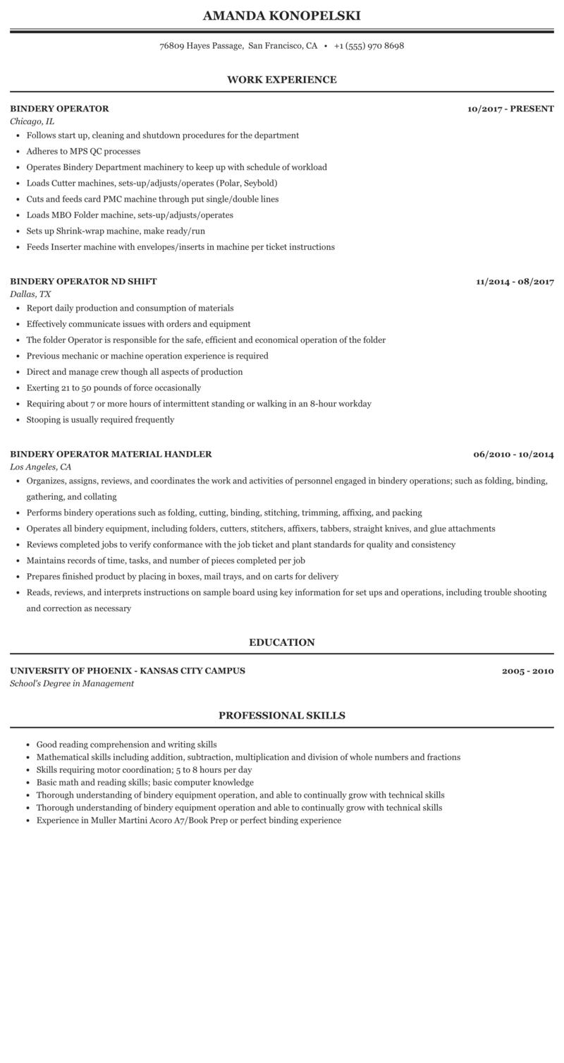 Bindery resume custom college dissertation introduction sample