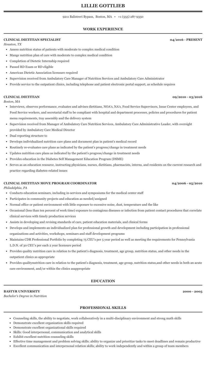 Resume and registered dietitian commonwealth 2012 essay competition