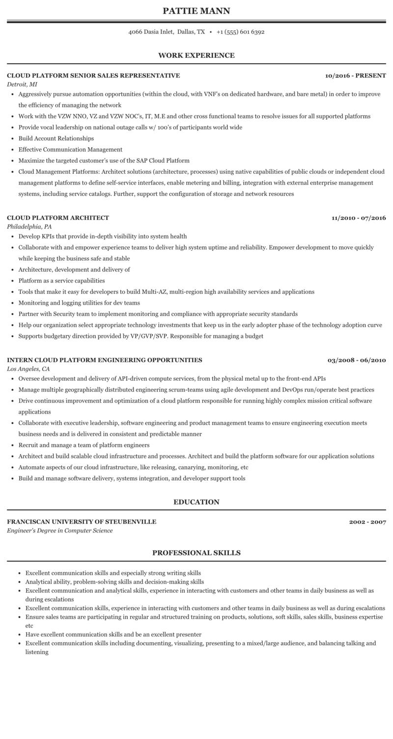 Azure Paas Developer Resume