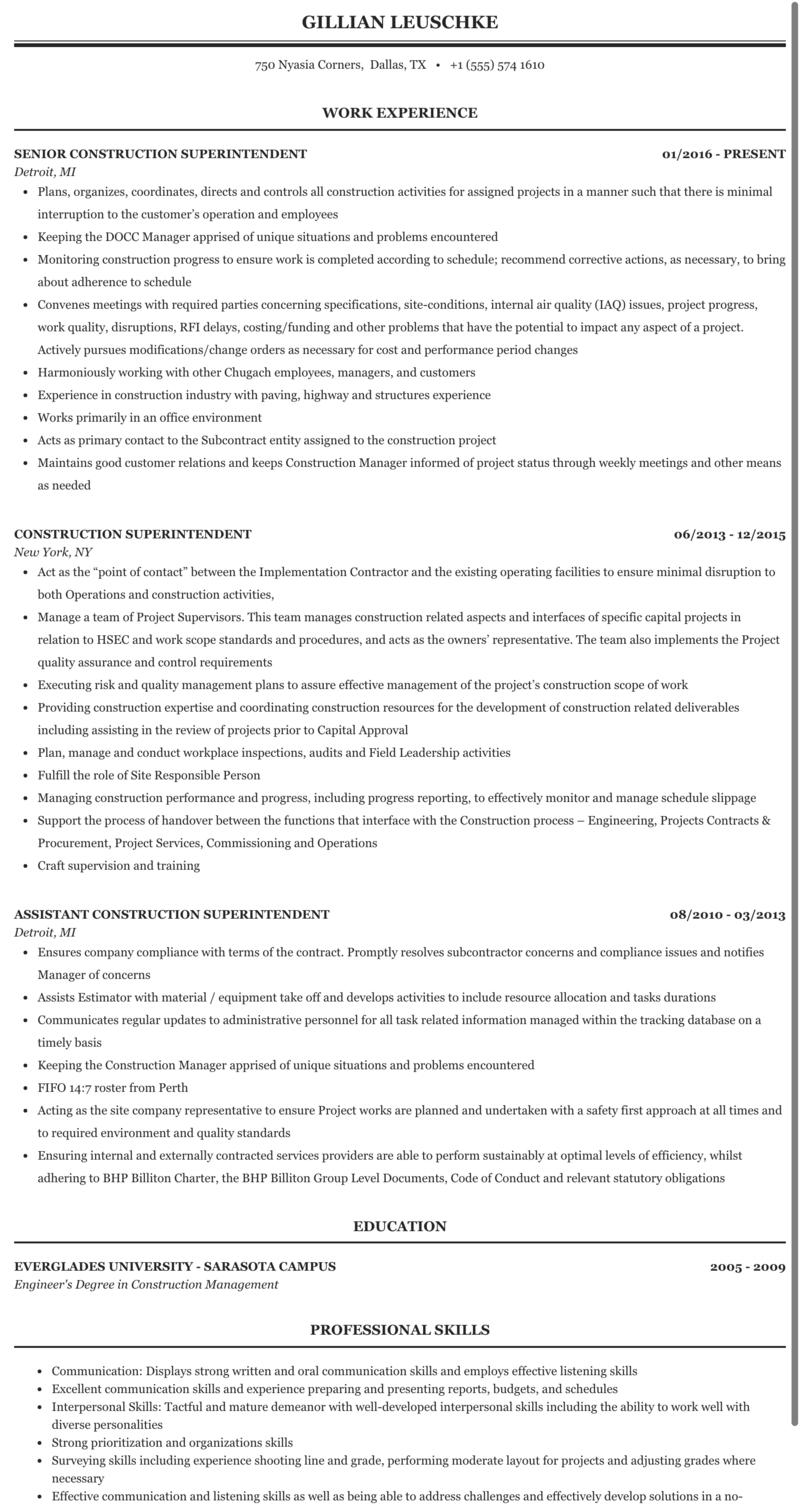 Resume construction superintendent cheap speech writer website uk