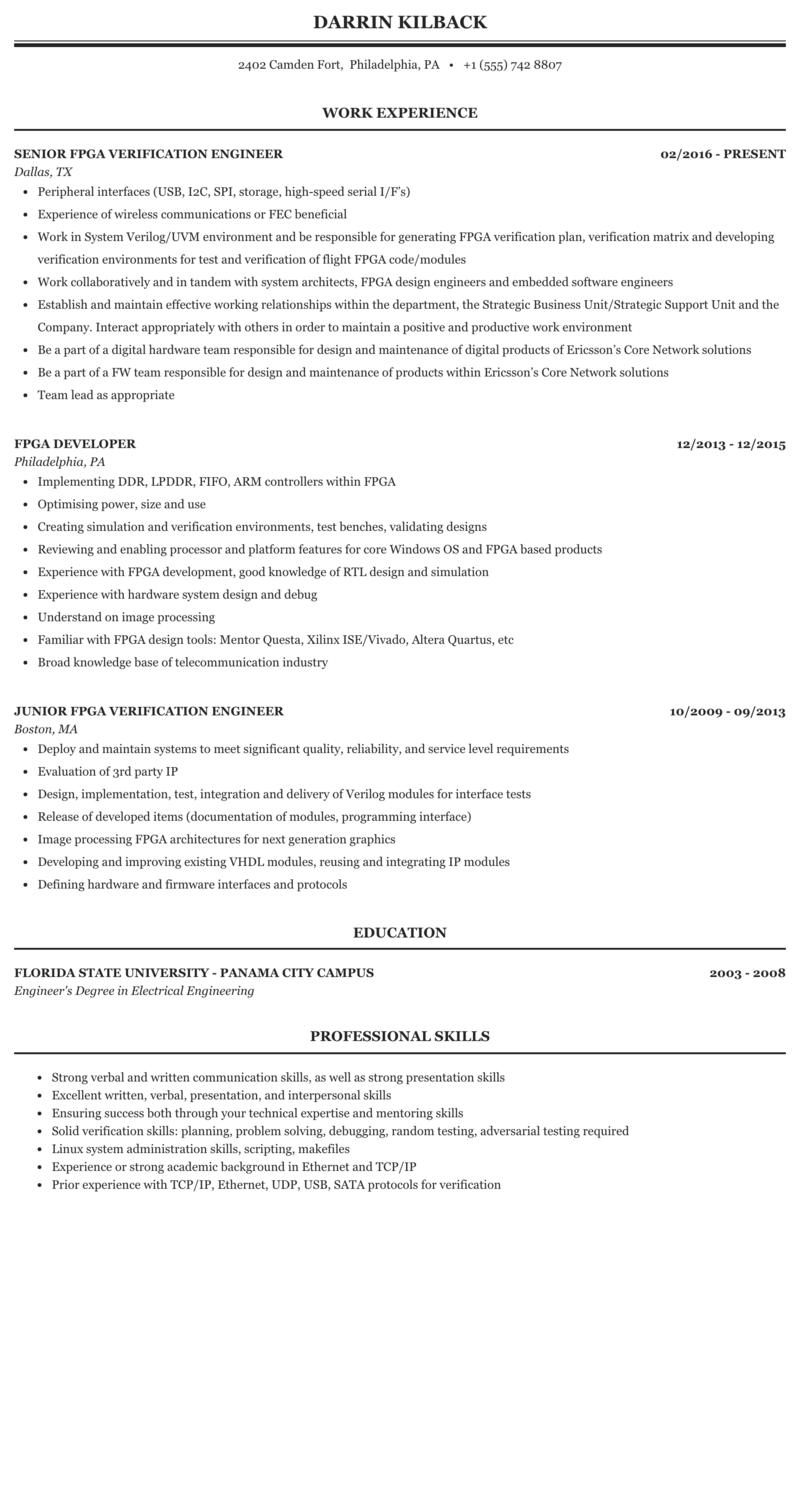 Sample resume fpga engineer best sap sd resume