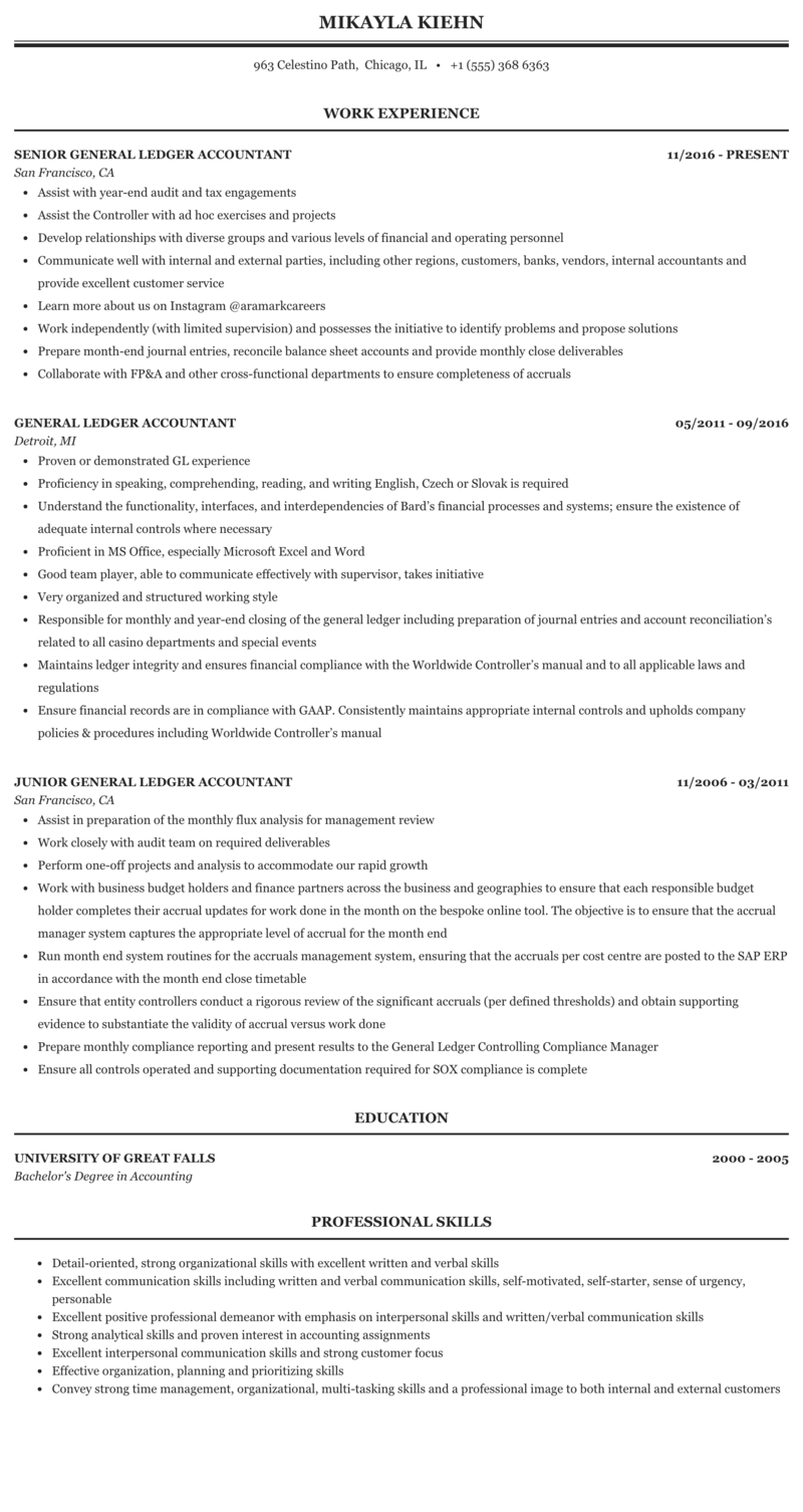 General ledger entries resume do my esl expository essay on hillary clinton