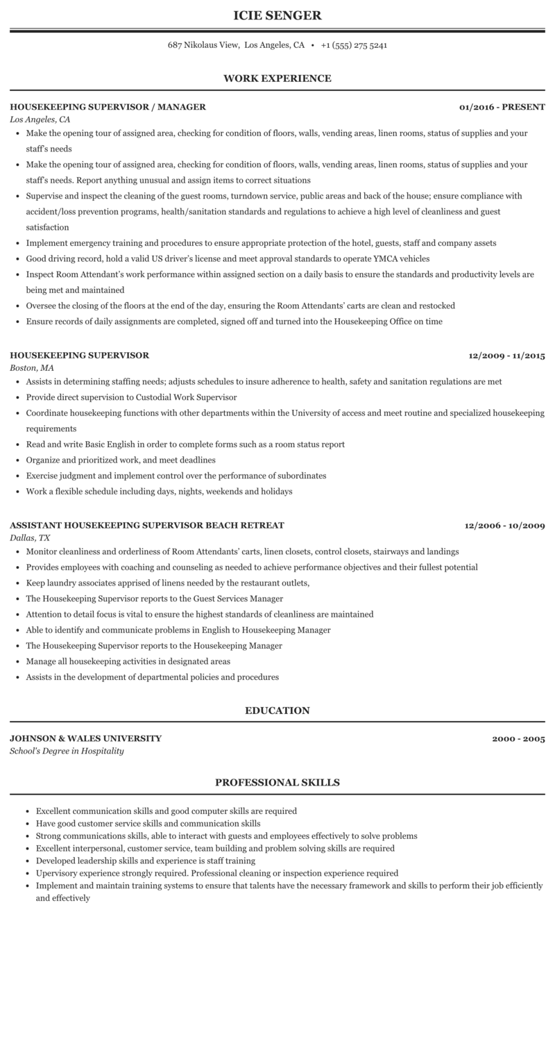 Cleaning service manager resume essays written about the crucible