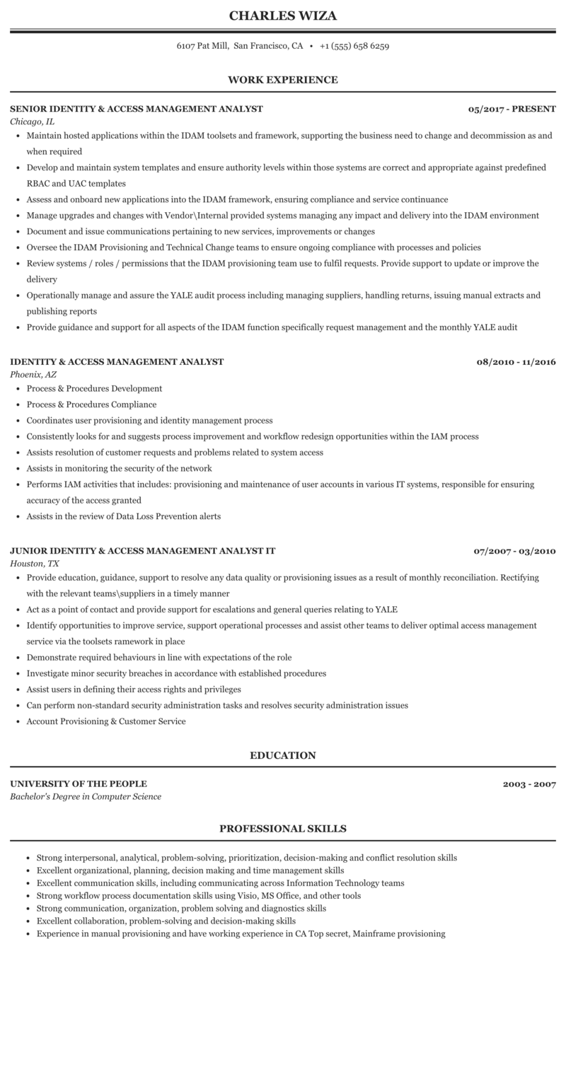 Resume access management technology progression essay