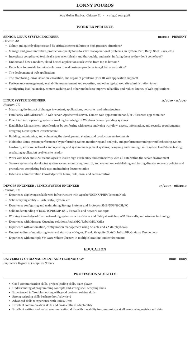 linux platform resume