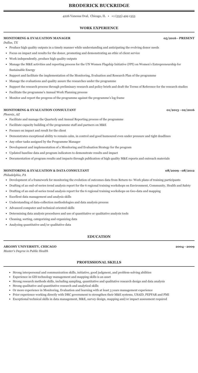 Resume monitoring evaluation master thesis research proposal sample