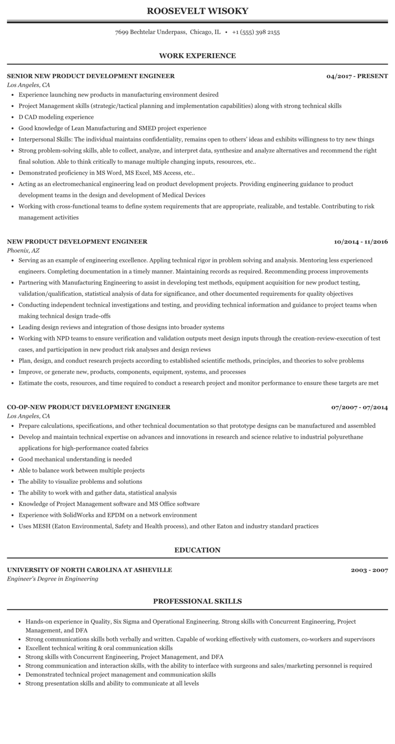 New product development engineer resume esl mba essay proofreading services ca