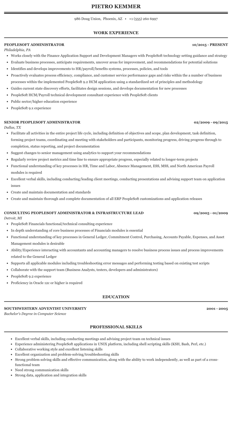 Peoplesoft resume arizona popular business plan proofreading websites usa