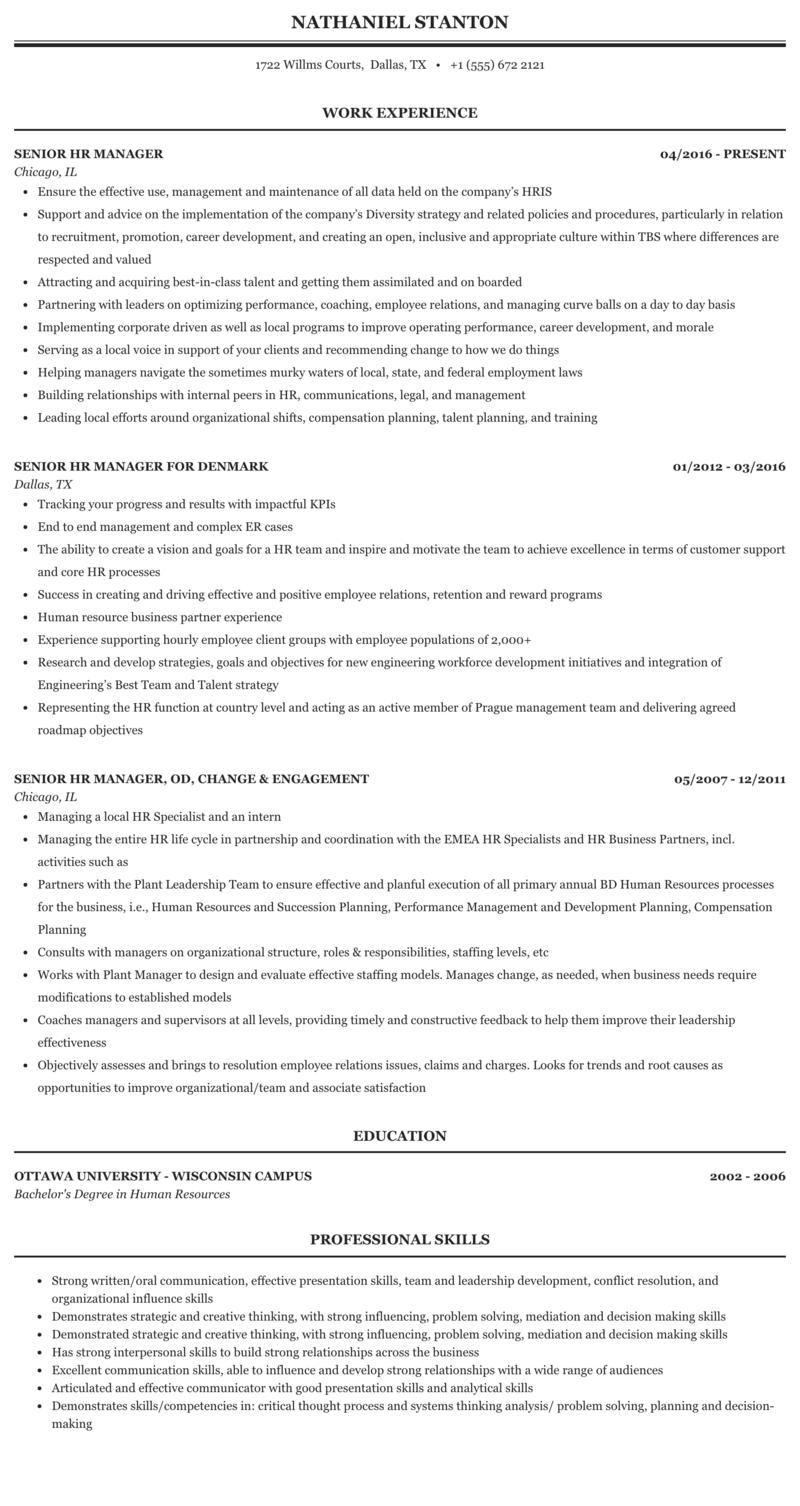Sample hr manager resume can anyone write a star trek novel