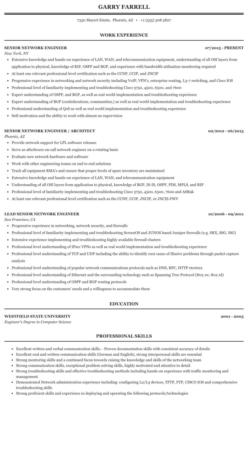 Mpls network engineer resume sap bw bi consultant resume